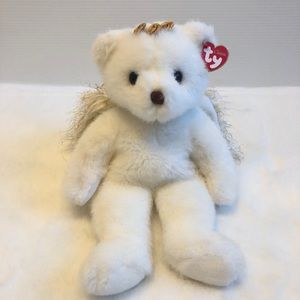 """Ty / Devine White Bear With Wings 14"""""""